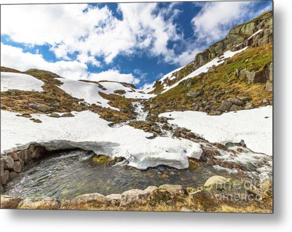 Norway Mountain Landscape Metal Print