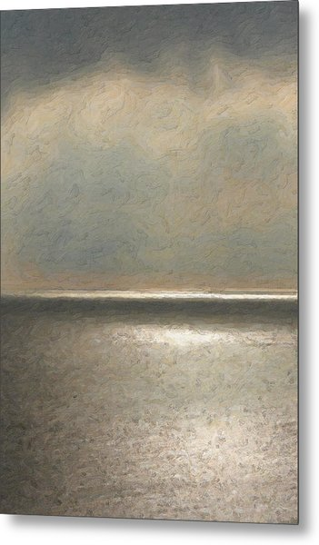 Not Quite Rothko - Twilight Silver Metal Print