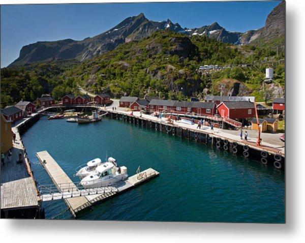 Nusfjord Fishing Village Metal Print