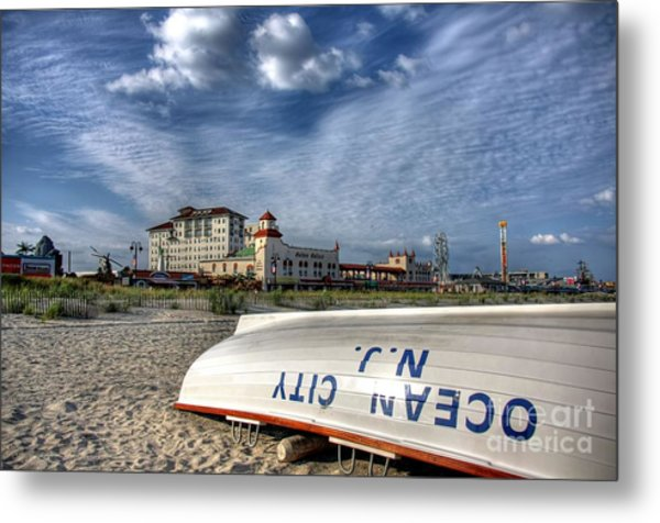 Ocean City Lifeboat Metal Print