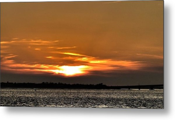 Ocean City New Jersey Sunset Metal Print by Kevin  Sherf