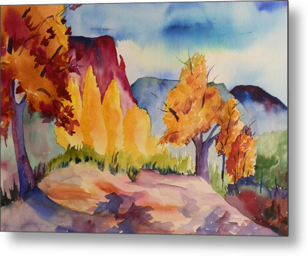 October At Ghost Ranch Metal Print