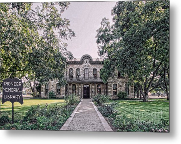 Old Gillespie County Courthouse Metal Print