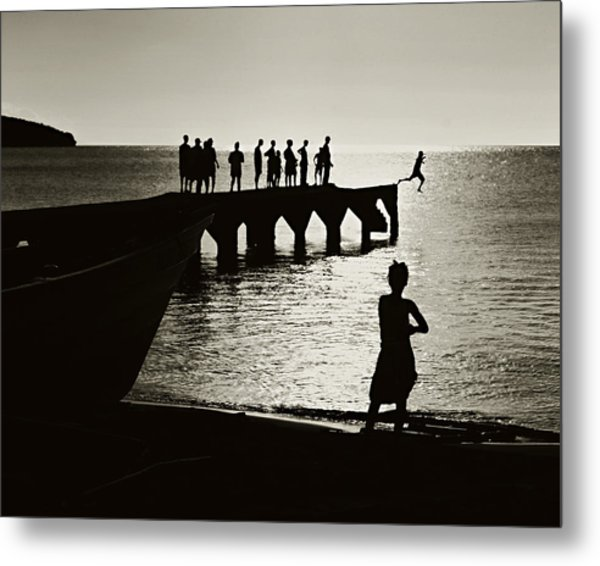 Old Jetty- St Lucia Metal Print