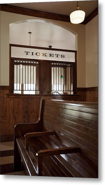 Old Time Train Station Metal Print
