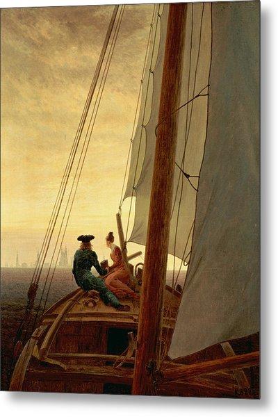 On A Sailing Ship Metal Print