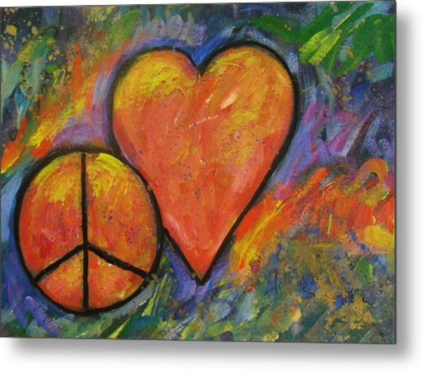 One Peace One Heart Metal Print