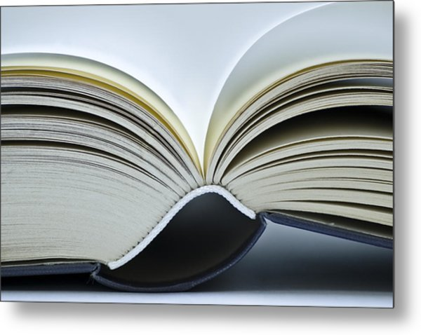 Open Book Metal Print