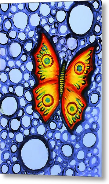 Orange Butterfly Metal Print by Brenda Higginson
