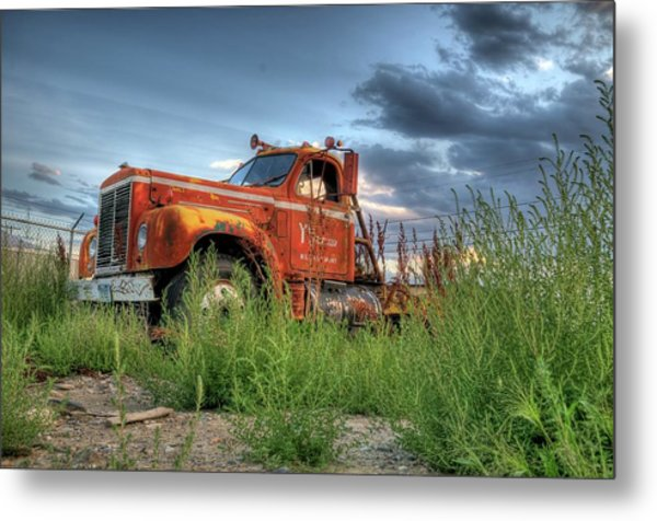 Orange Truck Metal Print