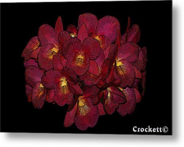 Orchid Floral Arrangement Metal Print