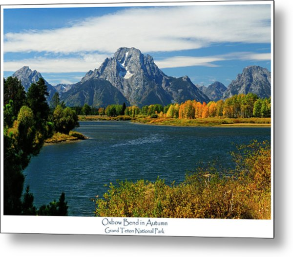 Oxbow Bend In Autumn Metal Print