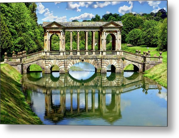 Palladian Bridge Nature Scene Metal Print