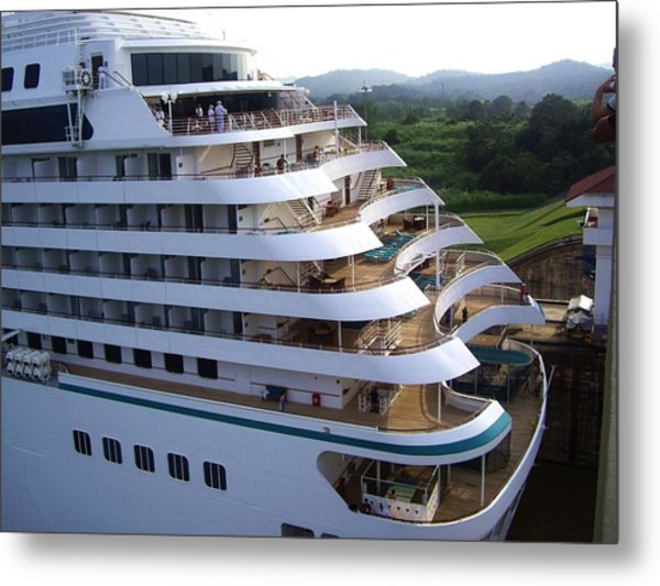 Panama Canal  At Work. Metal Print by Nereida Slesarchik Cedeno Wilcoxon
