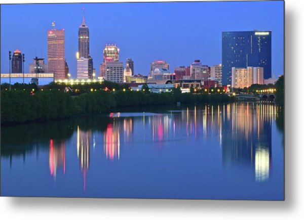 Panoramic Indianapolis Metal Print