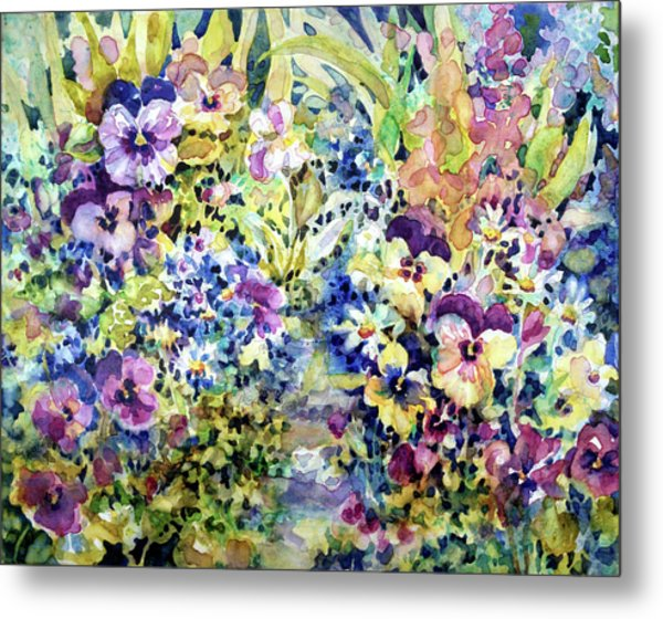Pansy Path Metal Print