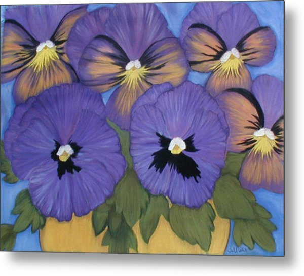 Pansy Power Metal Print by Norma Tolliver