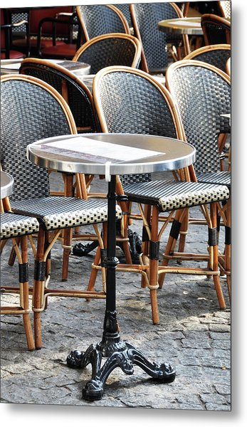 Parisian Cafe Terrace Metal Print