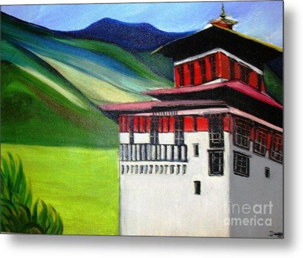 Paro Dzong Metal Print by Duygu Kivanc
