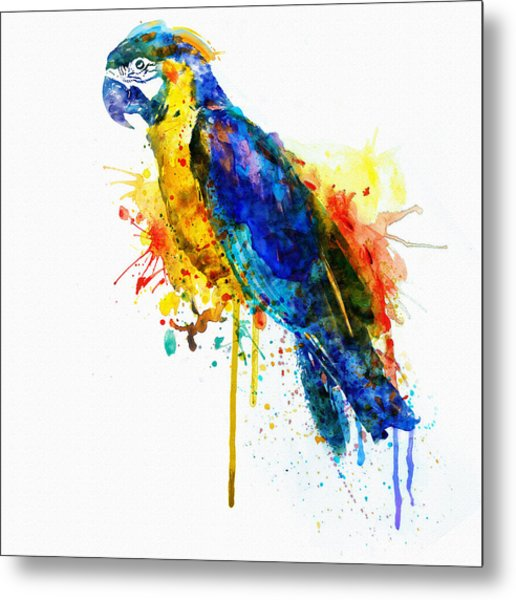 Parrot Watercolor  Metal Print