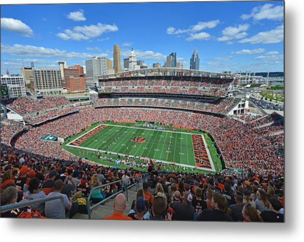 Paul Brown Stadium - Cincinnati Bengals Metal Print
