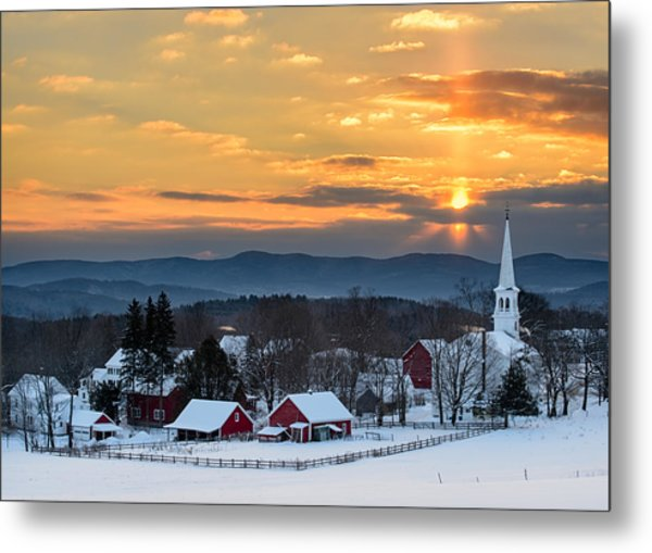 Peace Over Peacham Metal Print