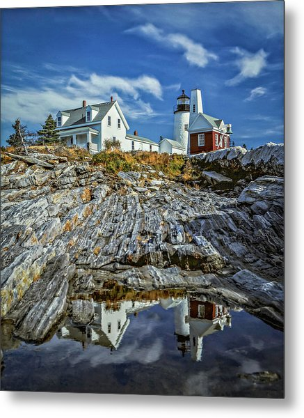 Pemaquid Reflections Metal Print