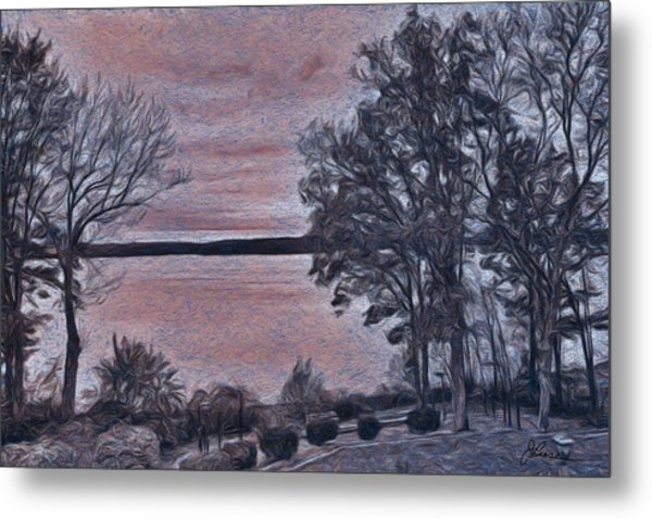 Metal Print featuring the painting Pennsylvania Landscape by Joan Reese