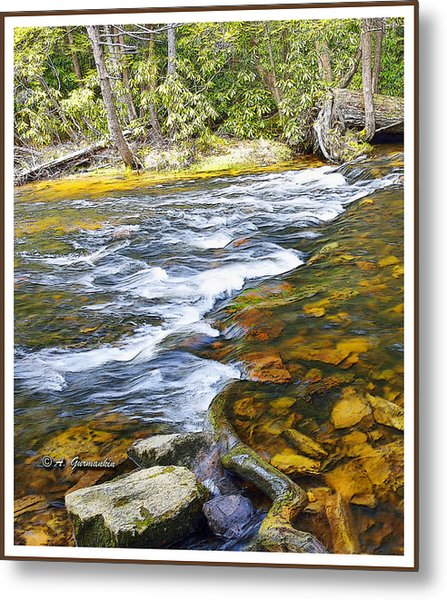 Pennsylvania Mountain Stream Metal Print