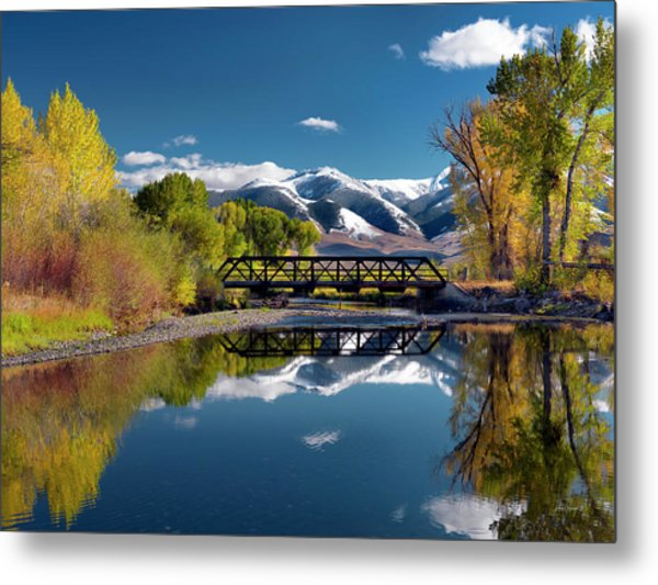 Perfect Autumn Day Metal Print by Leland D Howard