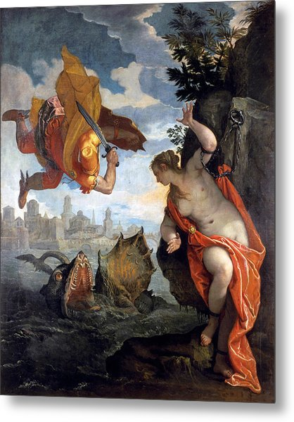 Perseus Rescuing Andromeda Metal Print