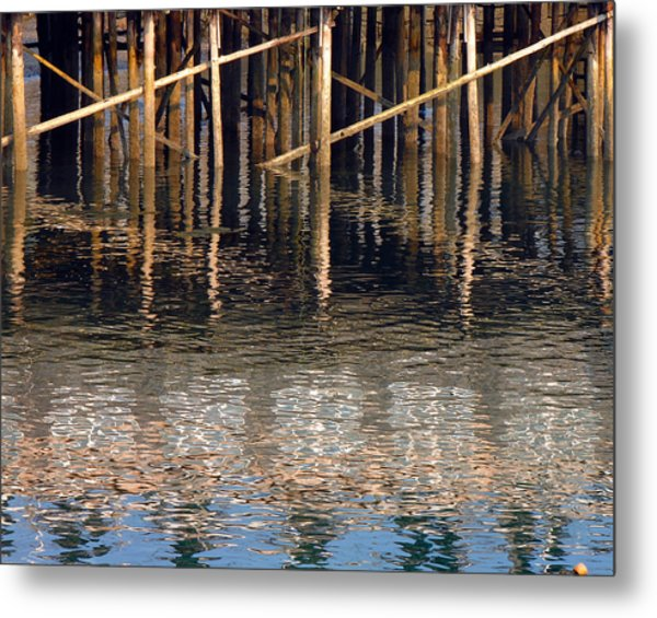 Pier And Water Metal Print