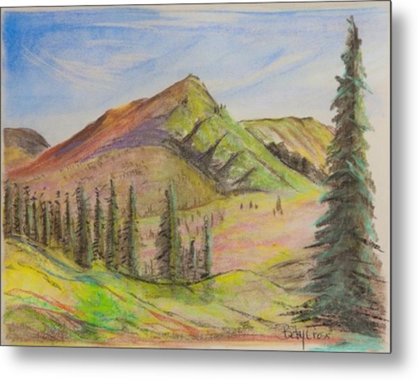 Pines On The Hills Metal Print