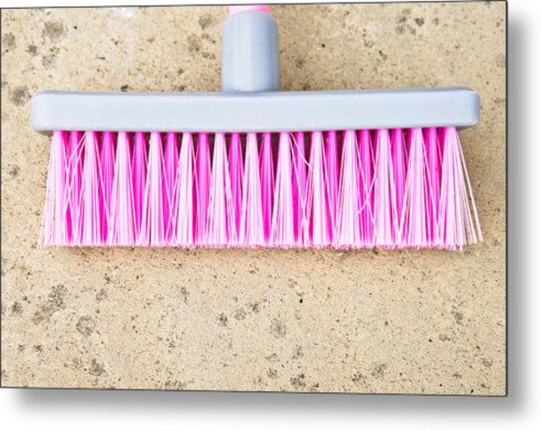 Pink Broom Metal Print