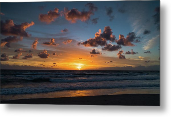 Pink Cloud Sunrise Delray Beach Florida Metal Print