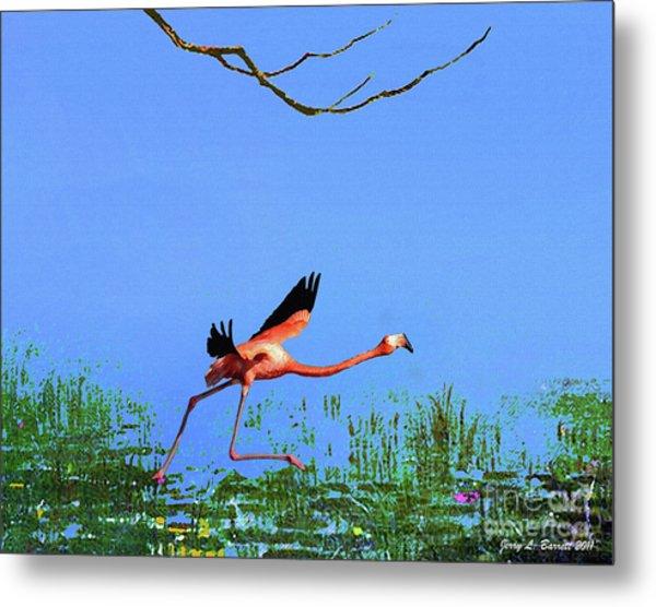 Pink Flamingo Metal Print