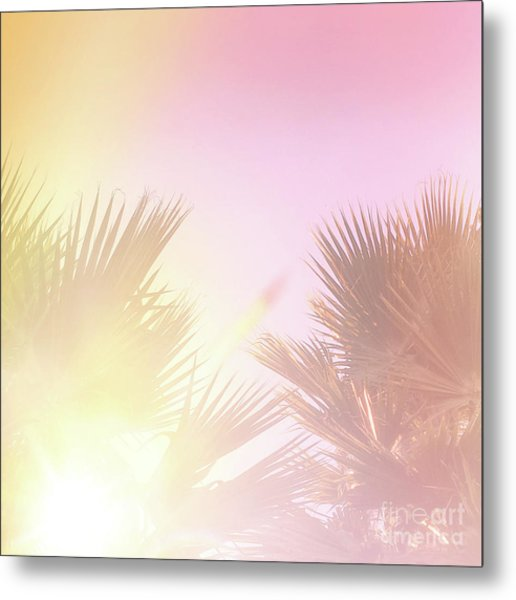 Metal Print featuring the photograph Pink Palms 2 by Cindy Garber Iverson