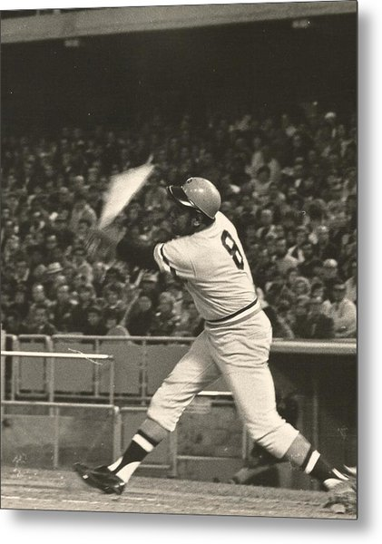 Pittsburgh Pirate Willie Stargell Batting At Dodger Stadium  Metal Print