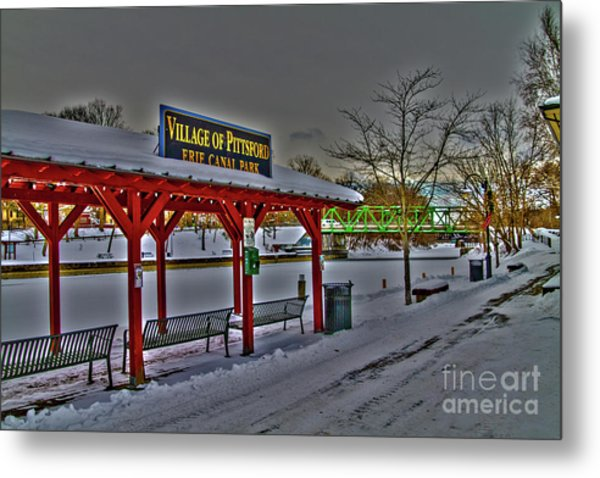Pittsford Canal Park Metal Print