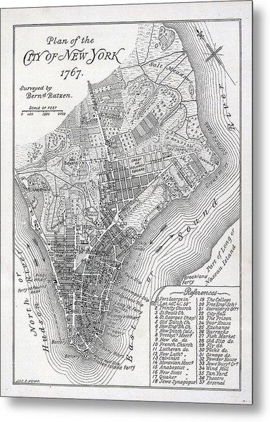 Plan Of The City Of New York Metal Print