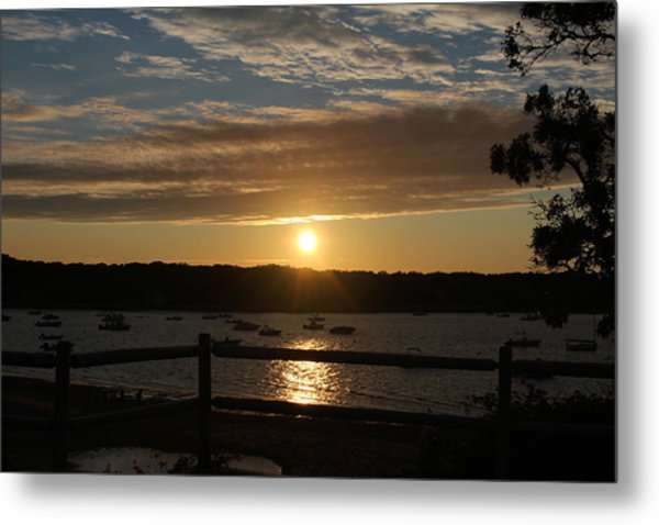 Pleasant Bay Sunset Metal Print by Amy Coomber Eberhardt