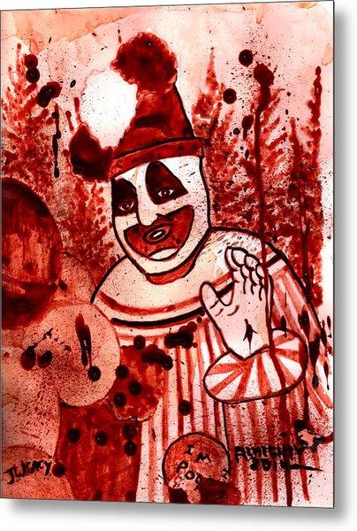 Pogo Painted In Human Blood Metal Print