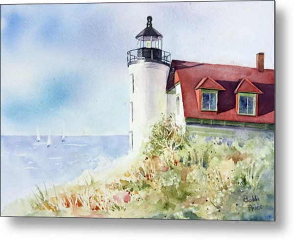 Point Betsie Metal Print by Bobbi Price