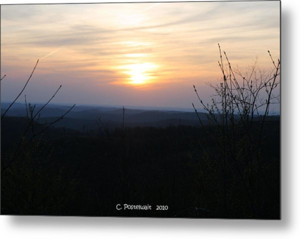Point Mountain Sunset Metal Print