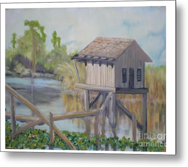 Pole House Metal Print by Hal Newhouser