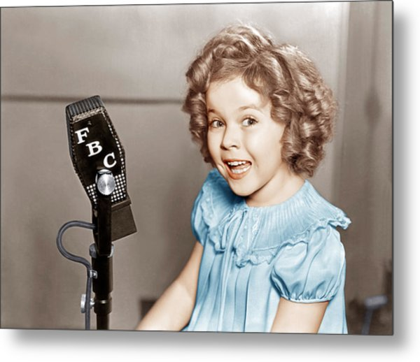 Poor Little Rich Girl, Shirley Temple Metal Print