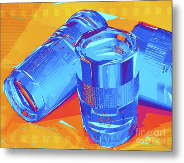 Pop Art Camera Lenses Metal Print