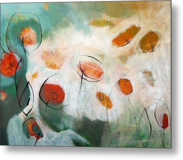 Poppies In The Clouds Metal Print by Teofana Zaric