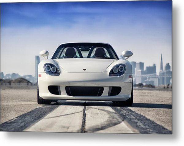 Metal Print featuring the photograph #porsche #carreragt by ItzKirb Photography