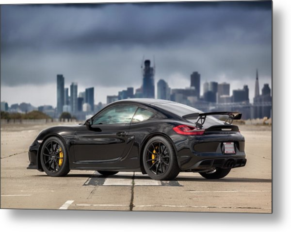 Metal Print featuring the photograph #porsche #cayman #gt4 by ItzKirb Photography